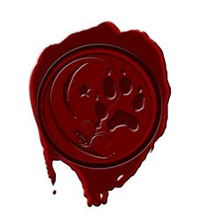 wolves wax seal by Quelux