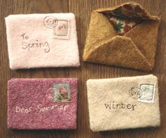 tinywhitedaisies:    lovelyclusters:    endofmarch:    seasonal letters (by amy adams (lucykate crafts…))