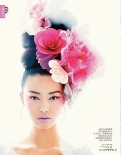 Tian Yi featured in Beauty: Flower Power, February 2013