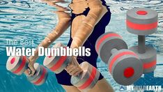 Water Dumbbells for Aerobic Pool Exercises by MyWildEarth - Extreme Sports, Adventure, Outdoor Activities and Water Aerobics Workout, Water Aerobic Exercises, Swimming Pool Exercises, Pool Workout, Dumbbell Workout, Swimming Pools, Water Workouts, Aqua, Water Weight