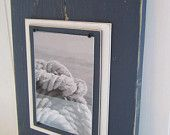 Long Navy Plank Frame for 5x7 Photo