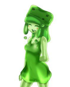 minecraft mob: medium slime (happy) by patrickwright15.deviantart.com on @DeviantArt
