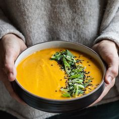 Thai Carrot and Cauliflower Soup | A Sweet Spoonful