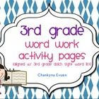 This pack contains 40 pages of word work activity for each sight word on the 3rd Grade Dolch  Sight Word List (trace, color, write, use it in a sen...
