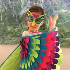 Mágico disfraz de buho las alas y máscara: muchos tamaños / /