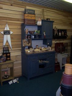 Salt Box Blue Alyson Cupboard