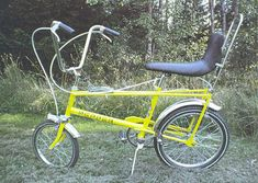 This bike was similar to the Raleigh Chopper but the handle bars were more swept back like a harley davidson,The gear change lever had a round k...