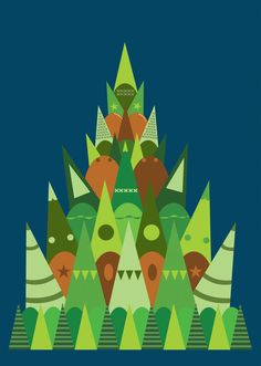 'The Forest' Tree Illustration Art Poster Print by Kev Munday £29.00