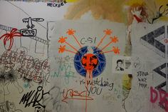 Graffiti in the stairwell at OCAD U. Photo by Don McLeod.