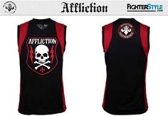 A thrilling new Affliction shirt greets the season with a slick combination of badass MMA style and smooth performance. This Napalm design is part of their Lava, Mma Clothing, Mma Shorts, Lifestyle Trends, Sleeveless Shirt, Ufc, Hoodies, Tank Tops, Boxing