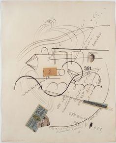 Raoul Hausmann, 391 Berlin – Dresden, 1921, Collage et dessin à l'encre de Chine…