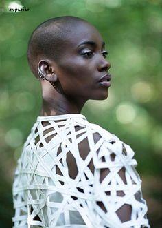 Shades Of Blackness – Adja Kaba para Superior Magazine Photography by … Big Chop, Bald Head Women, Natural Hair Styles, Short Hair Styles, Corte Bob, Bald Hair, Going Bald, Makeup Photography, Lipstick Shades