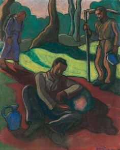 Pihenő, 1935: 1. aukció (1998. ősz) 90.tétel Paintings, Paint, Painting Art, Painting, Painted Canvas, Drawings, Grimm, Illustrations