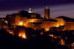 Montepulciano (by night).  A medieval and Renaissance hill town in southern Tuscany.