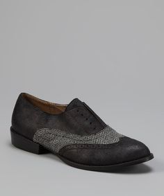 Take a look at this Black & Tweed Tonic Wingtip Oxford by Matisse on #zulily today!