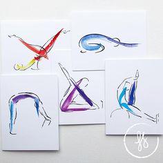 Yoga, Pilates and Nature Art for Inspiration by LindsaySatchell Pilates Logo, Pilates Studio, Pilates Workout, Doddle Art, Elastic Ribbon, Client Gifts, Inspiration Art, Tone It Up, Note Cards
