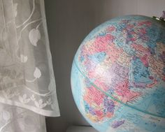 Vintage Globemaster World Globe - 1970's 12 inch Globe - Industrial Decor