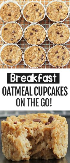 How to make breakfast oatmeal cupcakes that are great for healthy meal prep, vegan, gluten free, and they can be whole food plant based oil free too breakfast ideas Breakfast Meal Prep Oatmeal Cups To Go Oatmeal Cupcakes, Breakfast Cupcakes, Breakfast Bake, How To Make Breakfast, Breakfast Dishes, Vegan Cupcakes, Yummy Easy Breakfast, Breakfast Casserole, Oatmeal For Breakfast