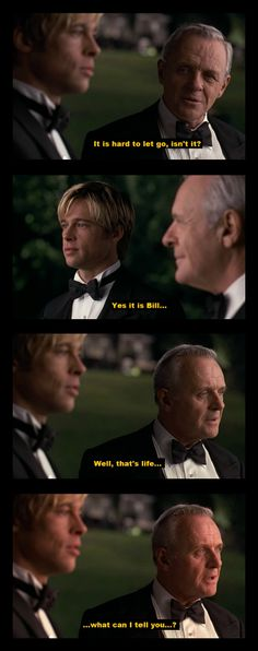 "Love this scene...! (Meet Joe Black) / I always thought this was a remake of ""The Weekend Death Took a Holiday"" starring Monty Markham....."