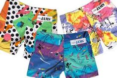 Jams shorts... stylin' in the 80's! This may have been a west coast thing, or a south west coast thing.
