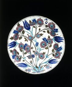 Dish      Place of origin:      Iznik, Turkey (probably, made)     Date:      ca. 1550-1555 (made)     Artist/Maker:      Unknown ...