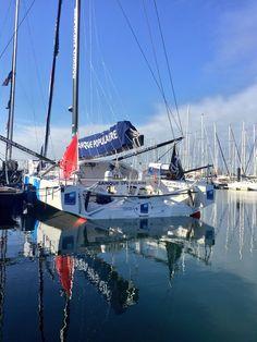 Banque Populaire boat à Port Olonna, VG2016, 21janv17