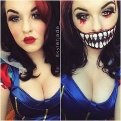 "Makeup Junkie on Instagram: ""I'm baaaack. Snow White Glam&Gore.  #snowwhote #snowwhitemakeup #makeup #mua #makeupartist #ardell #nyx #nyxcosmetics"""