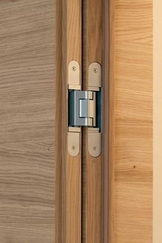 frameless interior doors with concealed hinges Concealed Door Hinges, Hidden Door Hinges, Barn Door Hinges, Door Design, House Design, Furniture Hinges, Joinery Details, House Doors, Wooden Doors
