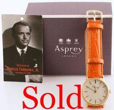 Asprey & Co of London Quartz Wrist Watch (Sold!)