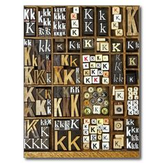 Letter K Post Card :: Great Idea! I'd suggest a lot more variety if you really do this! Difficult? Yes!!!