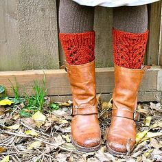 Ravelry: Lacefield Boot Toppers pattern by Adrienne Krey