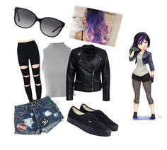 """""""Gogo"""" by batcat20 on Polyvore featuring Glamorous, Sisters Point, Vans and Michael Kors"""