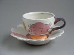 Sheep teacup and saucer by ClaraEmma on Etsy