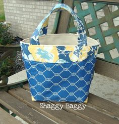 Bucket Tote by ShaggyBaggy on Etsy, $46.00