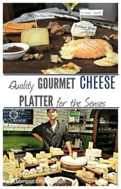 Quality Gourmet Cheese Platter for the Senses www.compassandfork.com