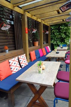 Outdoor beer gardens in Hampstead
