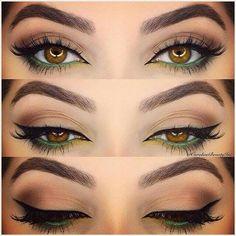 Hazel eye makeup …