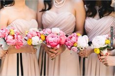 petite pink peonies bridal bouquets | VIA #WEDDINGPINS.NET