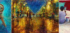 """Τα """"διαφορετικά"""" Ιμπρεσιονιστικά έργα τέχνης της Iris Scott. Ζωγραφική με δάκτυλα αντί πινέλων Finger Painting, Iris, Finger Drawings, Bearded Iris, Irises"""