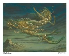 Pisces - limited edition fine art print by Jake Baddeley