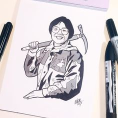 Junko Tabei was a Japanese alpinist and the first woman to reach the summit of Mount Everest. She was also the first woman to ascend all Seven Summits by climbing the highest peak on every continent. Women In History, Mountaineering, Continents, Inktober, Mount Everest, Wonder Woman, Japanese, Drawings, Climbing
