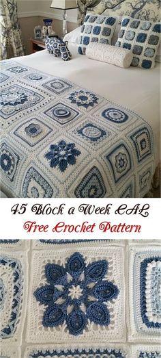 45 Block a Week CAL Free Crochet Pattern