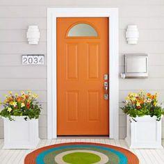 Orange door, love the rug by Gmomma