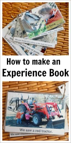 Make an Experience Book to Build Language. Good for students with additional needs and also those with English as an additional language (use to build vocab)