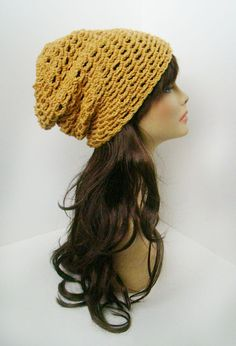 Burst Slouchy Beanie - Golden Girl. $25.00, via Etsy.  -- LIKE MY PAGE >  www.facebook.com/tzigns -- SHOP > www.tzigns.etsy.com