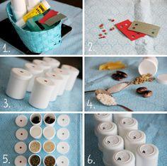 DIY montessori sound boxes
