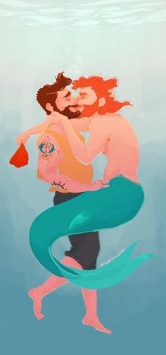 matt howorth #merman #mermaids #illustration #lgbt