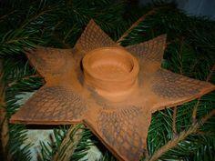 Kerzenhalter Stern XL aus rotem Ton getöpfert by andra-kreativ, Bald ist Weihnachten und man kann ja nicht früh genug anfangen, Geschenke zu besorgen. Ich habe schon ...