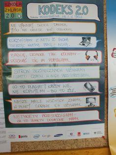Pani Magdalena Rak opisuje jak przebiegało przyjęcie Kodeksu 2.0 w Szkole Podstawowej w Jaśle i przedstawia poszczególne punkty Kodeksu 2.0, które zostały zatwierdzone podczas podczas Rady Pedagogicznej. http://szkolazklasa2013.ceo.nq.pl/dokument_widok?id=2412