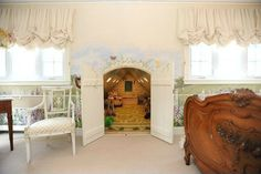 Cottage Kids Bedroom - Find more amazing designs on Zillow Digs! Hidden Spaces, Hidden Rooms, Unused Fireplace, Kitchens And Bedrooms, Playroom Organization, Organizing, Secret Rooms, Barbie Dream House, Big Girl Rooms